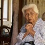 奥島 ウシ 106歳。世界でも100歳以上の人口比が高い、沖縄の長寿の村の住人。